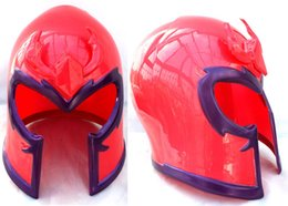 Wholesale Helmet Party - Wholesale- Free shipping,halloween party cosplay adult children red X-Men Magneto head mask helmet