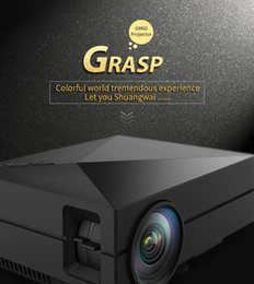 Wholesale Min Videos - New GM60 Portable HD LED Projector Home Cinema support Theater 1920 x 1080 video home digital min projector