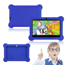 """Wholesale Universal Kids Tablet Case - Wholesale-Silicone Cute Soft Gel Case Cover For 7"""" Android A23 Q88 Tablet PC Kids Blue"""