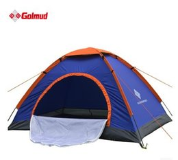 Wholesale Free Tents - Wholesale- Free shipping Brand New Waterproof UV Outdoor Hiking Tents 1~2 person Camping Tent Pack with Carrying Bag for Outdoor Camping