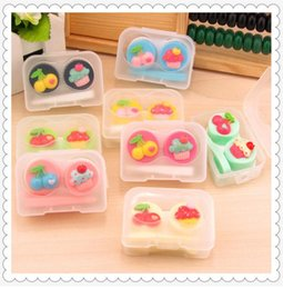 Wholesale Family Contact - Contact Lens Accessories Cute and small cartoon contact lens box of the contact lens box of the family box is practical and portable
