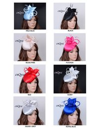 Wholesale Dresses For Races - NEW ARRIVAL! Formal Dress Satin sinamay fascinator hat for kentucky derby,wedding,races,church,party,8 colors