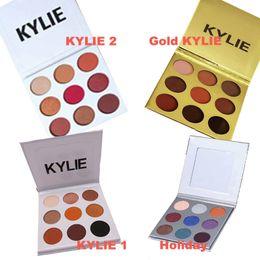 Wholesale Eyeshadow Palette Kit - 4 Type Kyshadow kit Kylie BURGUNDY Eyeshadow Palette Pressed Powder Bronze Palete 9 color