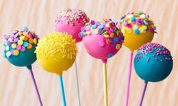 Wholesale Bakery Wedding Cakes - New Arrive Colorful Cake Pop Lollipop Stick Paper Lollypops Candy Chocolate Sugar Pen Dessert Decoration Tools Bakery Accessories 10CM 4''
