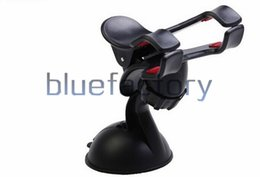 Wholesale Dual Car Mount - Universal Car Windshield Car Mount Holder Rotatable Suction Cup Stand Holder Double Clip Bracket Dual Arm Clamp for iphone 7 Samsung LG HTC