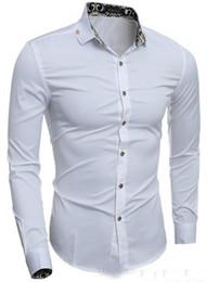 Wholesale Casual Slim Fitting Shirts Best - best selling new Men Shirt Luxury Brand Mens Long Sleeve Shirt Casual Male Fashion Slim Fit Dress Shirts