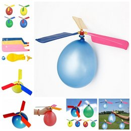 Wholesale Airplane Balloons Wholesale - New Classic DIY Balloon Airplane Helicopter For Kids Children Flying Child Toy gowithme fly higer and better quality