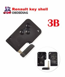 Wholesale Renault Megane Key Card - For Renault MEGANE remote control casing for smart card key blank case cover shell 3 button For Renault key shell