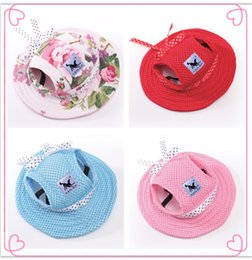 Wholesale Princess Dog Costumes - Dog Cap Breathable Mesh Dog Princess Caps   Sun Hat   Princess Beach Hat For Small Pet Dogs 2017 Summer Dog Products S,M