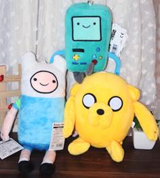 Wholesale Beemo Figure - XTHEANIME BAND Movice cartoon Toy Anime Adventure Time Finn Jake 11 inch Beemo BMO 8 inch soft figure plush doll