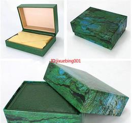 Proveedor de la fábrica de lujo verde con caja original Reloj de madera caja de documentos de la caja Cajas de carteras Caja de reloj de pulsera cajas 116610 116710 116660 desde fabricantes