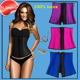 c6070233a87 Wholesale- slimming sheath women gaine amincissante corset slimming latex  waist trainers body Shapers girdles women rubber belt belly fajas discount  xs ...