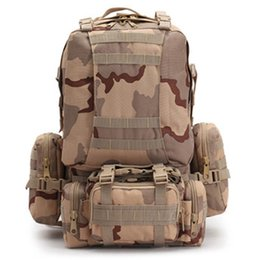 Wholesale tactical molle fabric - 2017 Molle Tactical Backpacks Gear Waterproof 900D Assault Outdoor Travel Hiking Sport amy Rucksacks Hunting Multi-function Bag