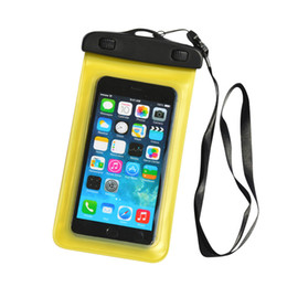 Wholesale Cell Phone Pvc Strap - Universal Cell Phone Cover PVC Waterproof Dry Bag Case Pouch with Neck Strap for Samsung Galaxy s7 edge