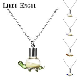 Wholesale Turtle Necklace Wholesale - Wholesale-LIEBE ENGEL Fashion Luminous Glowing In Dark Necklace Turtle Pendant Necklace Noctilucent Statement Collares Women Jewelry 2016