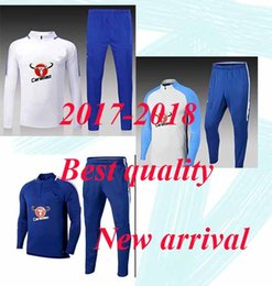 Wholesale Quality Tights - 17 18 top quality Adult Chelsea Survetement HAZARD,DIEGO COSTA,OSCAR soccer training suit tracksuits tight pants