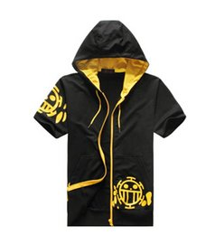 Wholesale Trafalgar Law Cosplay Hoodie - Wholesale-New One Piece Trafalgar Law Clothing Red Heart Pirates Short Sleeve hoodies  autumn Sweatshirt men women hoodie Cosplay costume