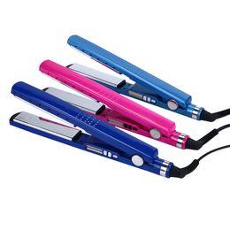 "Wholesale Kc Led - Hair Straightener New Flat Iron Straightening Iron 1 4"" Titanium Alloy LED Display Styling Tools 5 Adjustable Temperature"