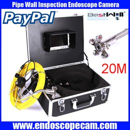 """Wholesale Industrial Lcd Monitor - 20M 30M 40M Fiber Glass Cable Waterproof Industrial Sewer Pipe Pipeline Inspection Underwater Camera 12Pcs Leds with 7"""" LCD monitor"""