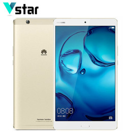 Wholesale Mediapad Otg - Wholesale- Huawei MediaPad M3 4GB 128GB WiFi 8.4 inch 2K Screen 2650*1600 Android 6.0 Tablet PC Kirin 950 Octa Core 8.0MP Fingerprint ID