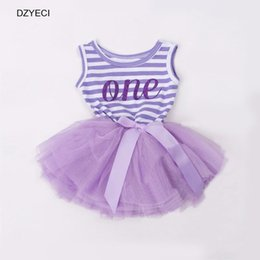 Wholesale Striped Infant Tutu - Christmas Costume For Baby Girl TUTU Dresses Fashion Newborn Infant Vest Striped Bow Tulle Princess Frock Patchwork Clothes 1-3 Year