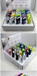 Encendedor USB Encendedor Electrónico Portátil Batería Recargable Sin Llama Encendedor de Cigarrillos Multicolor Encendedores Fumadores A Prueba de Viento para ciga desde fabricantes