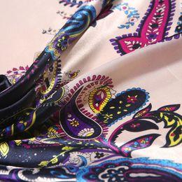 Wholesale Beautiful Shawls - High Quality Imitated Silk Satin Scarves 90*90CM Square Printed Satin Large Female Shawl 8 Colors Beautiful Women Scarf