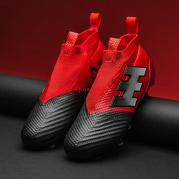 Wholesale Media Control - 2017 Original Mens Football Boots Ace 17 Purecontrol Fg Ag Soccer Shoes X 16 Purechaos Soccer Cleats Pure Control Chaos For Men Messi