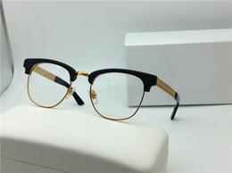 Wholesale Solid Frame Glasses - new vintage eyeglass medusa designer V2172 glasses prescription steampunk style men brand semi-rimless frame big face stand out design