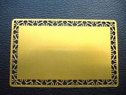 2019 обрамление визитных карточек Бесплатная доставка заряда золотой желтый пустой материал металла визитная карточка с хризантема рамка 100 шт./пакет,0.22 мм толщина скидка обрамление визитных карточек