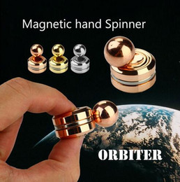 Wholesale Magnetic Finger - Fidget Toy Magnetic ORBITER Hand Spinner Metal Finger Spinner For decompression anxiety Cotton with the retail Box