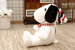 Wholesale Snoopy Stuff Toy - 20151132 Hot Sale plush toy cute snoopy doll cut Christmas snoopy stuffed animal gift for Valentine's day  Christmas