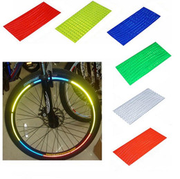 Wholesale Reflective Safety Tape - Fluorescent MTB Bike Bicycle Cycling Motorcycle Wheel Tire Tyre Reflective Stickers Strip Decal Tape Safety Silver