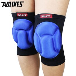Wholesale Foam Knee Pads - Wholesale- 1 Piece Outdoor Sports Climbing Cycling Protective Light Sponge Kneepad High Elastic Breathable Foam Knee Support Pad Warm