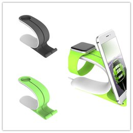 Wholesale Cheap Iwatch - Desktop Cell Phone Stand watch stand Holder for iphone iwatch fine brief elegant grey green whole sale cheap high quality