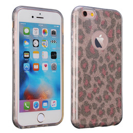 Wholesale Leopard Scratches - Saiboro Phone Case for iPhone 4 4s 5 5s SE 6 6s Plus 7 7Plus, Leopard High-Quality 3-in-1 Sparkle Glitter Protective Scratch-Resistant Cases