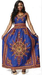 Shenbolen Womens Traditional Sleeveless Pocket Design zurück Reißverschluss  Kleid African Print Dashiki Casual Prom Party Dress 33926a432131