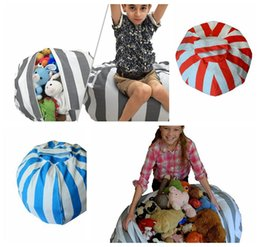 Wholesale Large Christmas Stuffed Animals - Creative Stuffed Animal Bean Chair Kids Toy Storage Bag Large Diameter 80CM Stuffed Dolls Organizer Toys Buggy Bags Storage Tool KKA3206