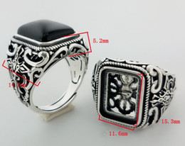 Wholesale Men S 925 Silver Rings - S 925 Pure Silver Natural Black Onyx Man Ring 9.6g Luxury Jewelry Gift Giving One Gem Silver Ring