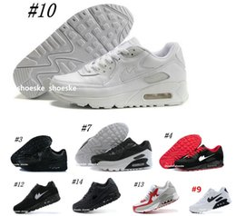Wholesale Yellow Canvas Shoes Men - Mens Sneakers Shoes classic 90 Men and women Running Shoes Black Red White Sports Trainer Air Cushion Surface Breathable Sports Shoes 36-45