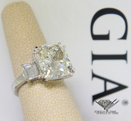 Wholesale Gold Ring Certificate - 10.02 Cushion shape Diamond Platinum Ring Size 5.25 GIA Certificate