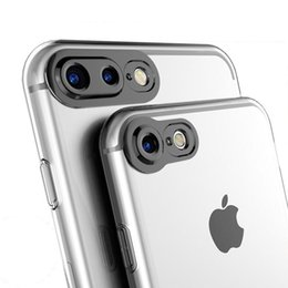 Wholesale Perfect Camera - 3D Camera Protection case for iPhone 7 Plus 4.7 5.5 all available Black Aperture Around Design 100% perfect protect the camera