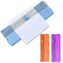 Wholesale A4 Trimmer - Wholesale- Universal A4 Precision Paper Photo Trimmer Cutter Scrapbook Trimmer Random Color