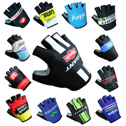 Wholesale Mtb Giant Bicycles - 2017 New quick step cas sky lotto giant mov Cycling Gloves racing MTB TEAM Bike bicycles gloves with Gel pads fast shipping