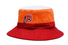 Wholesale Womens Bucket Hat Pink - Retro Football Team Bucket Hats Mens Womens Stripe Fishing Hats Sun Outdoor Caps
