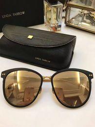 Wholesale Linda Farrow - New sunglasses for women LINDA FARROW 547 3 gafas de sol Designer sunglasses Pure titanium material women sun glasses color oculos brand