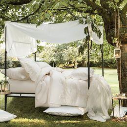 Wholesale Duvet White - Lace Bedding set luxury White Embroidered duvet cover set King Queen 100% Egypt cotton bed set bedsheet linen