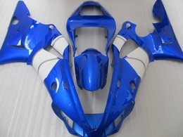 Wholesale Yamaha R1 Custom Fairings - New ABS motorcycle bike fairing set custom bodywork fairings kit for YAMAHA 2000 2001 YZF-R1 00 01 YZFR1 YZF R1 YZFR1000 blue white color