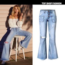 legging destruido Rebajas Las mujeres destruyen los pantalones vaqueros del agujero de la vendimia atractivo lápiz rasgado estirar pantalones de mezclilla pantalones de pierna ancha pantalones delgados flacos de calidad superior más tamaño jeans