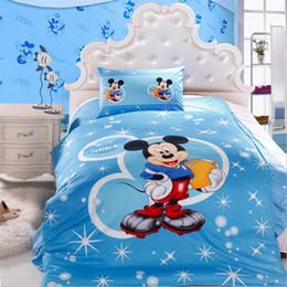 Wholesale Duvet Set Snow White - 100% cotton luxury Snow White mickey Children cartoon bedding set spring bed sheet  duvet cover  pillowcase Home textile